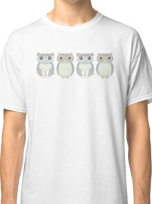 Double Dogs and Owls Blue Classic T-Shirt