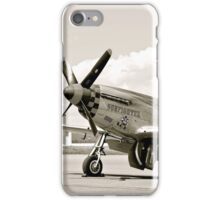 P-51 Classic Mustang WW2 Fighter Plane iPhone Case/Skin