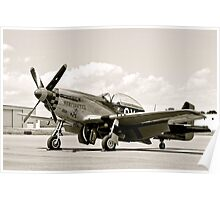 P-51 Classic Mustang WW2 Fighter Plane Poster