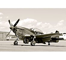 P-51 Classic Mustang WW2 Fighter Plane Photographic Print