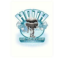 Hoth Ice Service - No Drama with the Wampa Art Print