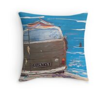 VW DUSTY KOMBI VAN Throw Pillow
