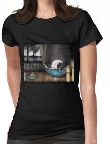 Sleeping Rabit Womens Fitted T-Shirt