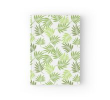 Green palm leaves pattern Hardcover Journal