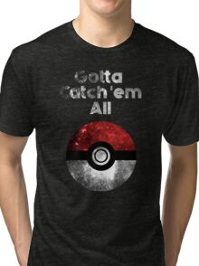 Pokemon Minimalist Nebula Design Tri-blend T-Shirt