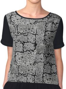 I don't know black and white honeycomb pattern Chiffon Top