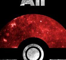 Pokemon Minimalist Nebula Design Sticker
