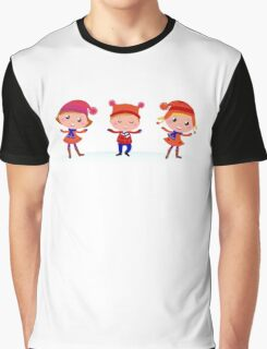 Collection of cute winter children Graphic T-Shirt