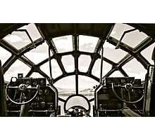 Cockpit of B-29 Bomber Photographic Print