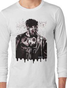 Punisher Ink Splatter Long Sleeve T-Shirt