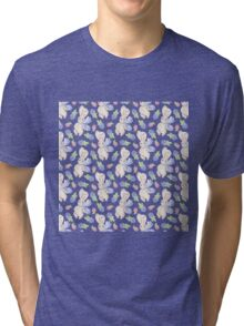 Cute white pink lavender watercolor bunny berries  Tri-blend T-Shirt