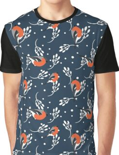 Bullfinch and barberry branch Graphic T-Shirt