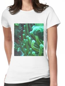 Green Sea Anemone Macro Womens Fitted T-Shirt