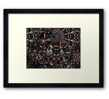 Refraction Over Fractal II Framed Print