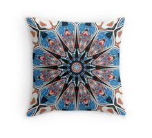 Black And Blue Mandala Throw Pillow