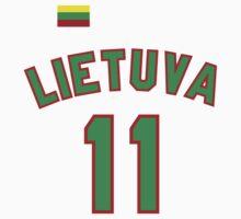 Arvydas Sabonis 11 Lithuania Basketball  by hanelyn