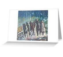 The Hoops Charge Home - Country Racing Vic. Australia Greeting Card