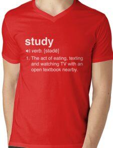 Funny Study Definition Mens V-Neck T-Shirt