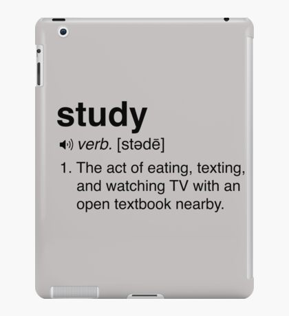 Funny Study Definition iPad Case/Skin