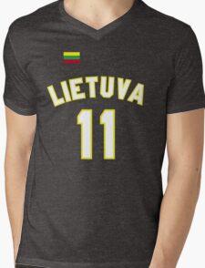 Arvydas Sabonis 11 Lithuania Basketball  Mens V-Neck T-Shirt