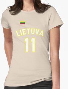 Arvydas Sabonis 11 Lithuania Basketball  Womens Fitted T-Shirt