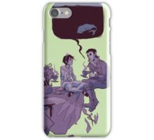 tea party in the void iPhone Case/Skin