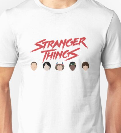 Stranger Things: Blood Logo ft. Eleven, Mike, Dustin, Lucas, and Will (version two) Emojis Unisex T-Shirt