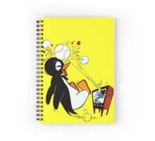 Penguin Baseball  Spiral Notebook