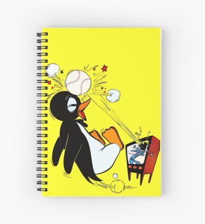 Penguin Baseball  Spiral Notebook