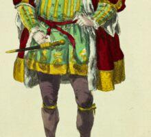 Habit of King Henry VIII in 1520 Le Roi Henry VII 360 Sticker