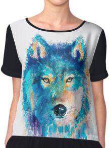 Wolf Chiffon Top