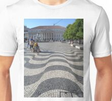 Tiles in central square of Lisbon_Portugal Unisex T-Shirt