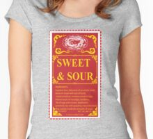 SWEET AND SOUR  Women's Fitted Scoop T-Shirt