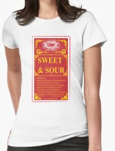 SWEET AND SOUR  Womens Fitted T-Shirt