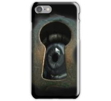 Creature through the keyhole iPhone Case/Skin