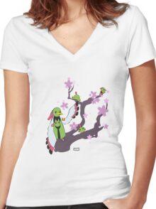 Xatu tree Women's Fitted V-Neck T-Shirt