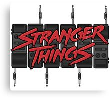 Stranger Things: Blood Logo ft. *SIX* 80s Walkie-Talkies (version two) Canvas Print