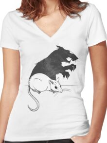 The Strange Case of Dr. Mouse and Mr. Rat Women's Fitted V-Neck T-Shirt