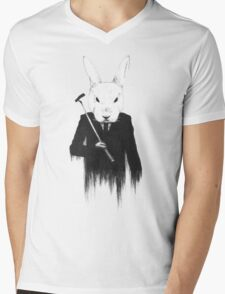 The White Rabbit Mens V-Neck T-Shirt