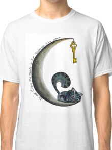cheshire cat and moon Classic T-Shirt