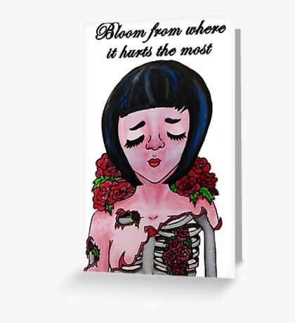 Bloom From Where It Hurts the Most  Greeting Card