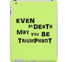 Even In Death iPad Case/Skin
