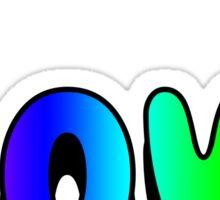 Love Sticker Rainbow Sticker