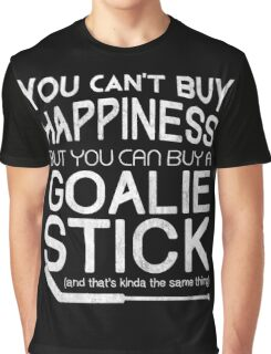 You Can't Buy Happiness, Hockey Goalie Graphic T-Shirt