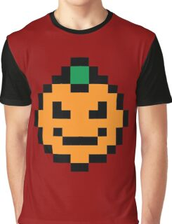 Pixel Pumpkin Graphic T-Shirt