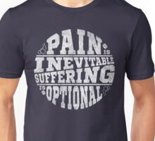 Hockey, Pain is Inevitable Suffering is Optional Unisex T-Shirt