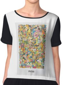 Cartoon Network Collage Chiffon Top