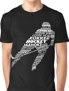 Typographic Hockey Languages   Graphic T-Shirt