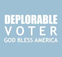Deplorable Voter #basketofdeplorables Election 2016 White Kids Tee