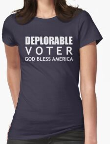 Deplorable Voter #basketofdeplorables Election 2016 White Womens Fitted T-Shirt